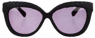 Linda Farrow Snakeskin Cat-Eye Sunglasses