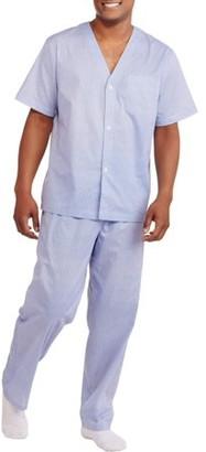 Fruit of the Loom Big Men's Short Sleeve Pajama Set