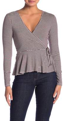 HIATUS Long Sleeve Surplice Top