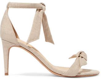 Alexandre Birman Clarita Bow-embellished Linen Sandals - Ecru