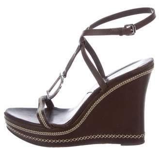 Christian Dior Platform Wedge Sandals