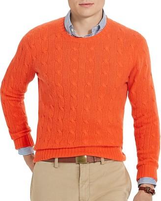 Polo Ralph Lauren Cashmere Cable Knit Sweater $398.50 thestylecure.com