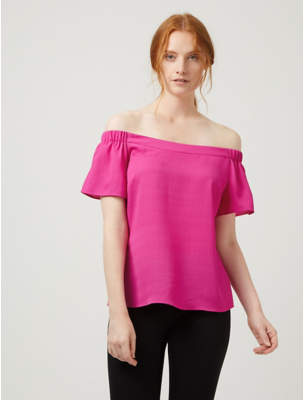George Pink Woven Bardot Blouse