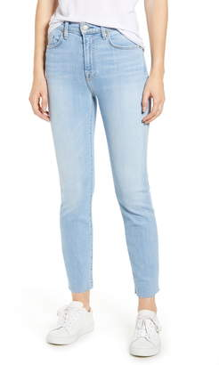 7 For All Mankind Roxanne High Waist Raw Hem Ankle Slim Jeans