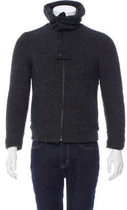 Wooyoungmi Knit Rib Knit-Trimmed Jacket