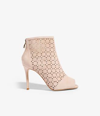 c88b52fcf166 Karen Millen Laser Cut Heeled Boots