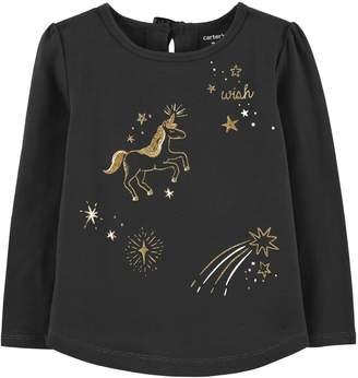 Carter's Toddler Girl Glittery Unicorn Tee