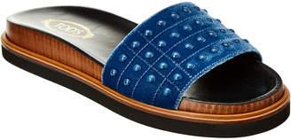 Tod's Gommino Velvet Slide Sandal