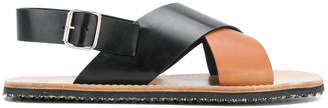 Marni cross strap sandals