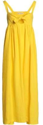 Mara Hoffman Bow-Detailed Cutout Linen Maxi Dress