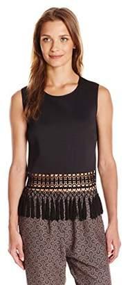 Clover Canyon Sportswear Women's Neoprene Embellished Top