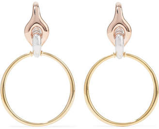 Charlotte Chesnais Halo Silver, Gold And Rose Gold Vermeil Earrings