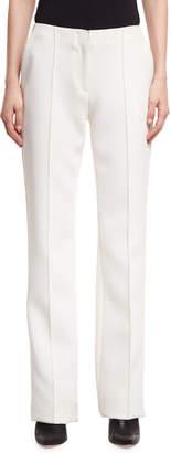 Diane von Furstenberg Pleated-Front Wide-Leg Crepe Pants
