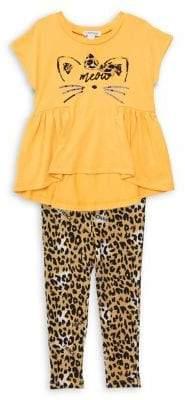 Flapdoodles Little Girl's Flared Top & Printed Legging Set