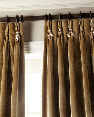"""Parker 6009 132""""L Velvet Curtain with Asfour Crystals"""
