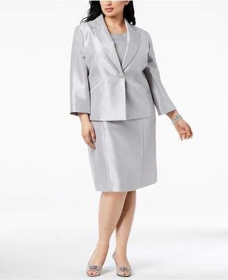 Le Suit Plus Size One-Button Dress Suit