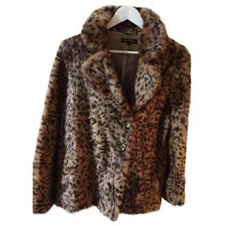 Sarah Wayne Brown Faux fur Coat for Women
