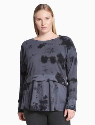 Calvin Klein plus size performance tie-dye thermal tee