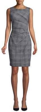 Calvin Klein Sleeveless Plaid Sheath Dress