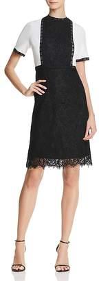 Nanette Lepore nanette Color-Block Lace Dress