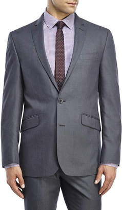 Kenneth Cole Reaction Grey Two-Button Slim Fit Suit Jacket