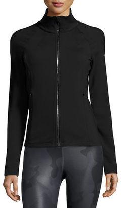 Alo Yoga Kata Knit Sport Jacket $118 thestylecure.com