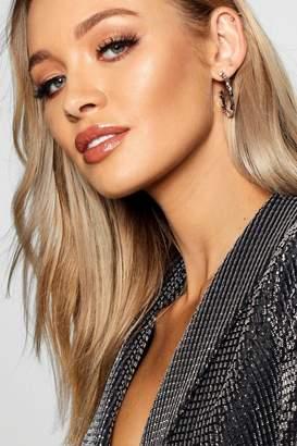 boohoo Block Texture Hoop Earrings