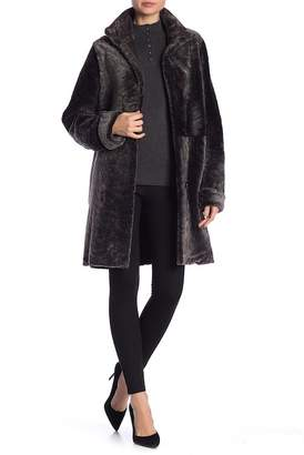 Blue Duck Genuine Sheepskin Fur Reversible Coat