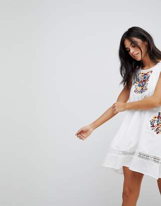 Hazel Embroidery Sleeveless Summer Dress