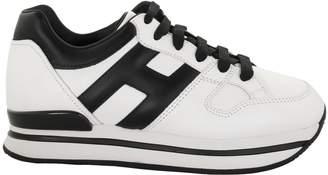 Hogan H222 Black,white Sneakers