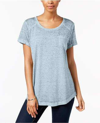 Style&Co. Style & Co Burnout T-Shirt, Created for Macy's