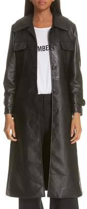 Nili Lotan Leather Trench Coat