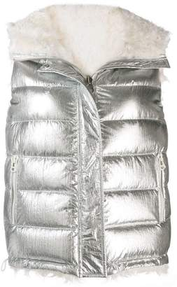 Yves Salomon reversible metallic gilet