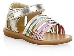 Naturino Baby's& Girl's Rubino Tunnel-Strap Leather Sandals