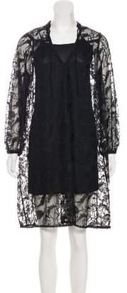 Just Cavalli Laced Knee-Length Dress