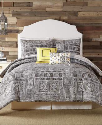 Peking Indigo Bazaar Tranquility King Comforter Set - 5 Piece Bedding