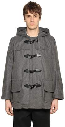 Comme des Garcons Hooded Wool Blend Short Duffle Coat