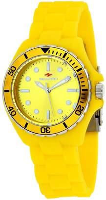 Seapro Women's Spring 36mm Silicone Band Steel Case Quartz Watch Sp3210