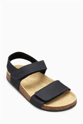 Next Boys Black Corkbed Sandals (Younger)