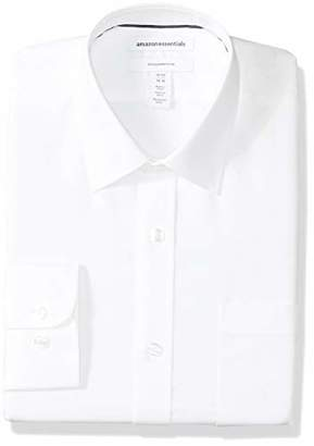 Amazon Essentials Men's Slim-Fit Wrinkle-Resistant Long-Sleeve Solid Dress Shirt