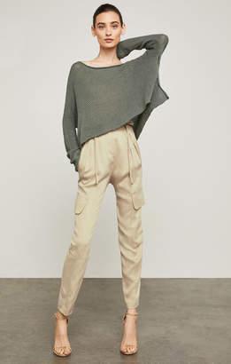 BCBGMAXAZRIA Pleated Paperbag-Waist Pant