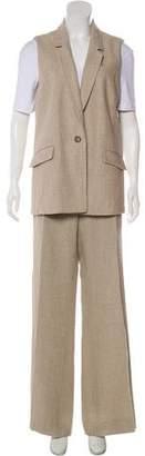 Michael Kors Linen Notch-Lapel Pantsuit
