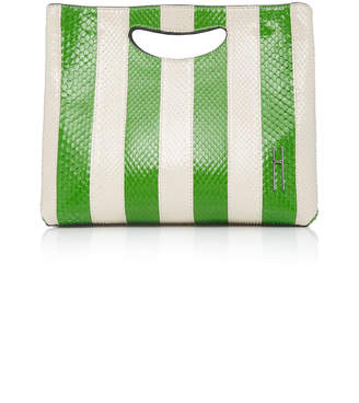 Hayward Shiny Python Stripes Basket Bag