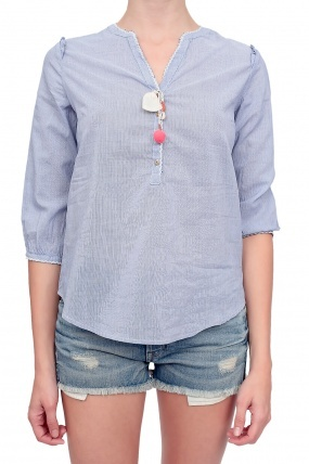 Maison Scotch Tunic Top Blue