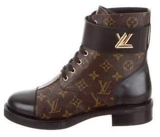 caf4ab81adc6 Louis Vuitton Monogram Wonderland Flat Ranger Boots