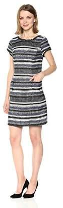 Adrianna Papell Women's Herringbone Stripe Shift