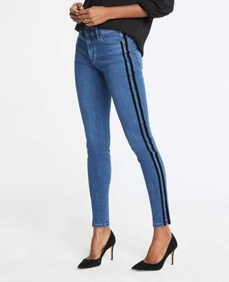 Ann Taylor Modern Velvet Side Stripe All Day Skinny Jeans