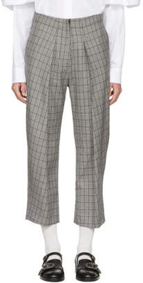Ashley Williams Black and Ivory Prince Of Wales Trousers