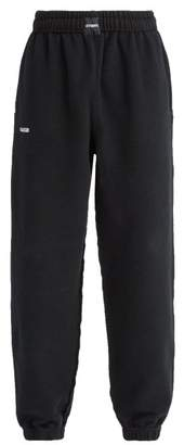 Vetements Oversized Inside Out Cotton Blend Track Pants - Mens - Black