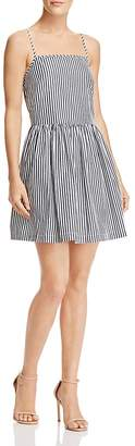 French Connection Sardinia Striped Cotton Mini Dress